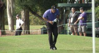 Tiger Woods, que va último, vomitó en pleno campo