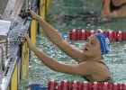 Jennifer Pareja cambia por un día waterpolo por natación