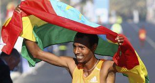 Berhanu y Mergia ganan 200.000 dólares en la maratón más rica