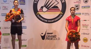 Carolina Marín cayó en una final donde acabó muy nerviosa