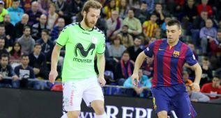 El Inter Movistar gana 2-3 al Barça y le arrebata el liderato