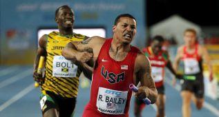 Bolt hizo el último 100 en 8.65, pero Jamaica perdió con EE UU