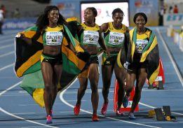 Las jamaicanas vengan a Usain Bolt en los 4x100 metros
