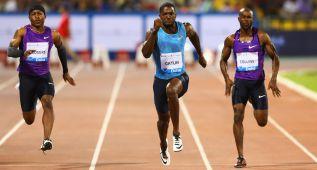 Gatlin hace 9.74 en 100, a 16 centésimas del récord de Bolt