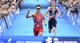 Noya gana a Alistair Brownlee en un apasionante sprint