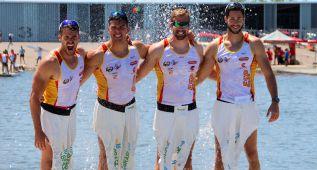 Los K4 de España destacan con cuatro medallas en Portugal