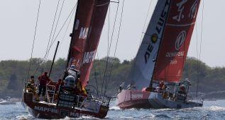 'Mapfre' aguanta segundo en la carrera final hacia Lisboa