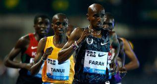 Mo Farah ganó cómodamente el 10.000 de Eugene con 26:50.97