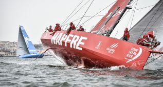 El 'Mapfre' manda en el ascenso por las costas portuguesas