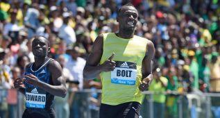 Usain Bolt gana con 20.29 en Nueva York, pero no convence