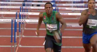 Yidiel Contreras dominó en los 110 vallas de Lieja con 13.43