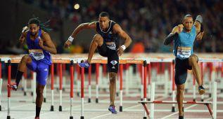 Ortega, futuro español, gana los 110 mv ante el campeón mundial