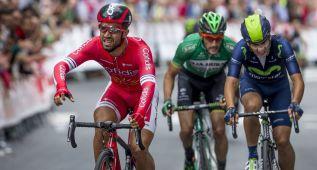 Bouhanni impone su velocidad en el circuito de Getxo