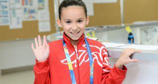 Una niña de 10 años compite en los Mundiales de Kazán