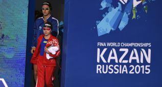 Tareq, de 10 años, un circo de la FINA en Kazán: fue última