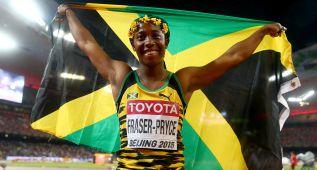 Shelly Ann Fraser-Pryce, tres veces campeona en 100 metros