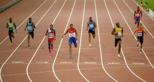 Paseos de Usain Bolt y Gatlin en las series de 200 metros