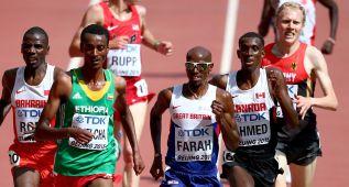 Mo Farah prepara el doblete y caen los tres atletas españoles