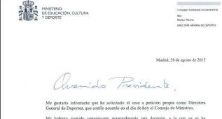 """Ana Muñoz, a los presidentes: """"El deportista guió mi trabajo"""""""