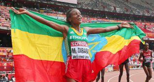 Oro en maratón femenino para la atleta etíope Mare Dibaba
