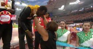 La nieta de Jesse Owens dio la tercera medalla a Usain Bolt