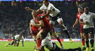 Inglaterra arranca a lo grande en su Mundial a costa de Fiji