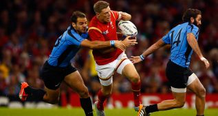 Gales impone la lógica frente a Uruguay en Cardiff: 54-9
