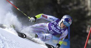 Vonn, adiós en Aspen al ceder el terreno y perder un esquí