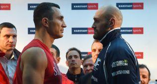 Klitschko expone su dominio ante el 'gigante' Tyson Fury