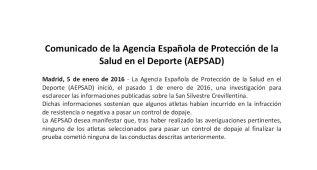 La AEPSAD dice que no hubo infracciones en Crevillente