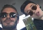 Beckham lleva a su hijo Brooklyn a ver la Super Bowl