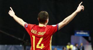 España, a la final tras superar al portero-jugador kazajo