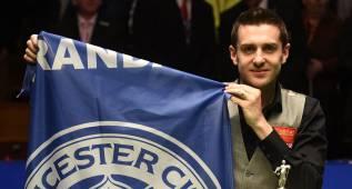 Selby, hincha del Leicester, campeón mundial de snooker