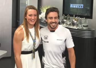 Fernando Alonso deseó suerte a Mireia Belmonte para Río