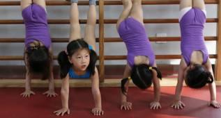 China cambia su forma de enseñar gimnasia a los niños