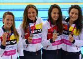 Mireia, Costa, Gallardo y Castro, plata en 4x200 con pase a Río