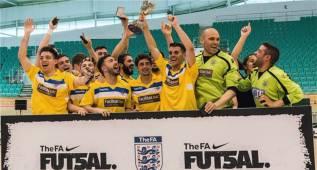 12 españoles ganan la liga inglesa de fútbol sala