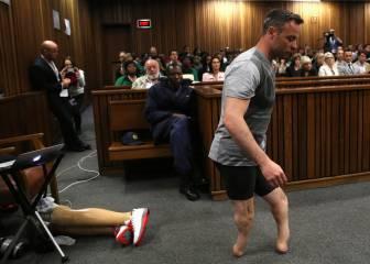 Las imágenes de Pistorius ante la jueza