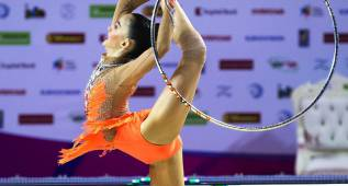España, sexta en la final por equipos de gimnasia rítimica