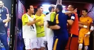 Bronca entre Barça y Movistar en los vestuarios