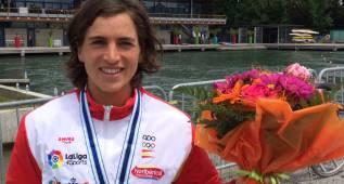 La española Maialen Chourraut, medalla de bronce en Pau