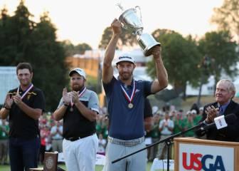Dustin Johnson sube al tercer puesto tras ganar el US Open