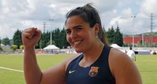 Sabina Asenjo bate en Bilbao su récord de disco con 61,89