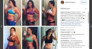 Peleadora muestra como ha perdido 14kg para el UFC 200