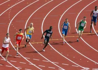 Bruno Hortelano se pasea en su serie de 200 a lo Bolt