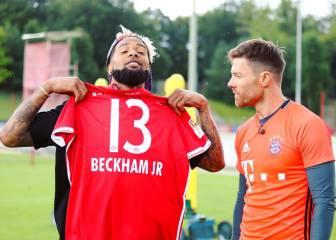 Odell Beckham jugó al fútbol con el Bayern de Munich