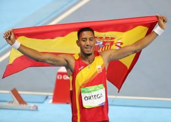Orlando Ortega, plata, devuelve al podio al atletismo español