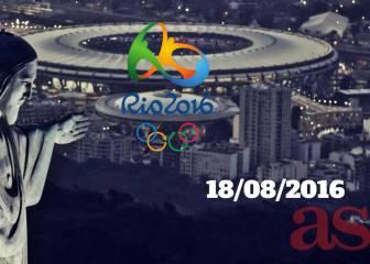 Juegos Olímpicos Río 2016 en vivo y en directo online, jueves 18/08/2016