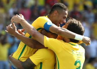Neymar y Brasil quieren lograr el oro de la reconciliación