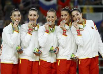 La plata merecida para el equipo de gimnasia rítmica